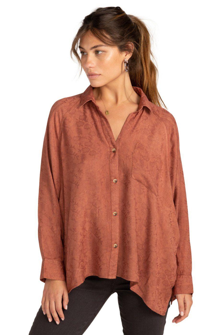 Billabong Shirt ISABEL SHIRT COASTAL LOVE LETTERS Bronze