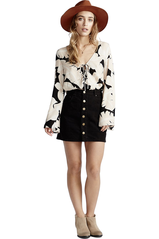 Billabong Skirt GOOD LIFE CORD ANOTHER SUN Black