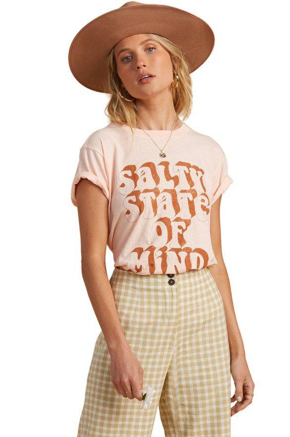 Billabong T-Shirt NOT A TOURIST SALTY BLONDE Tropcl Peach