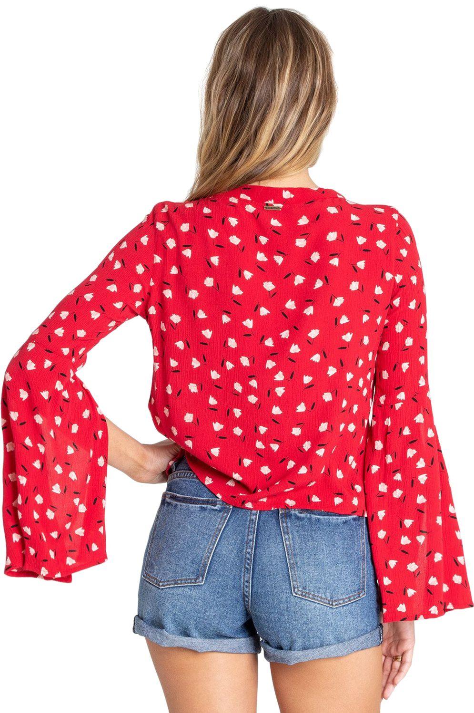 Billabong Shirt LUST LINGER SEEKERS OF THE SUN Havana Red