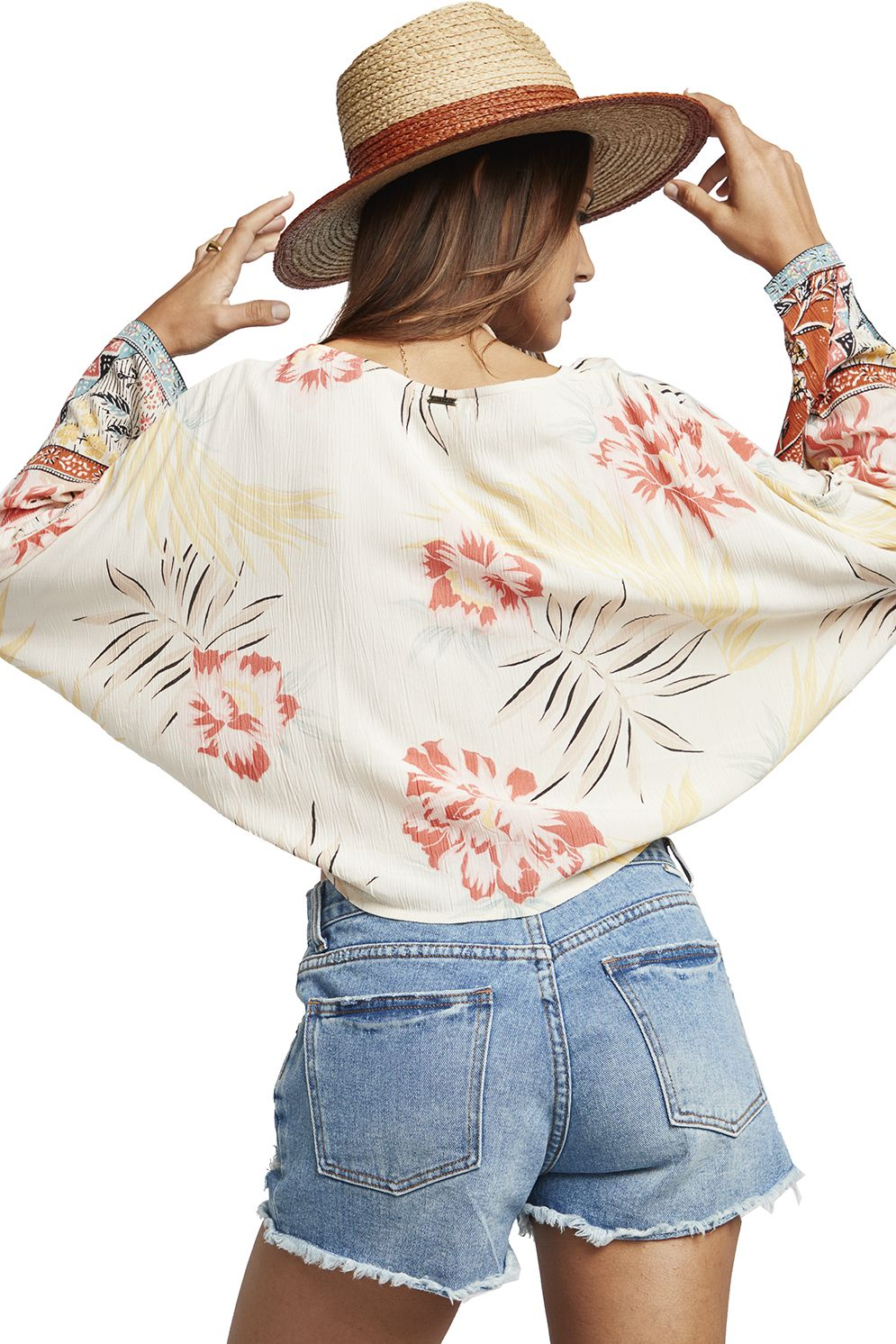 Billabong Top BACK ROUND BEACH BAZAAR Whisper