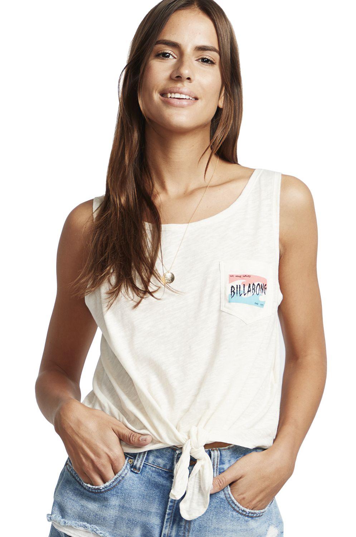 Billabong T-Shirt Tank Top SUMMER ONLY A DAY DREAM AWAY Salt Crystal