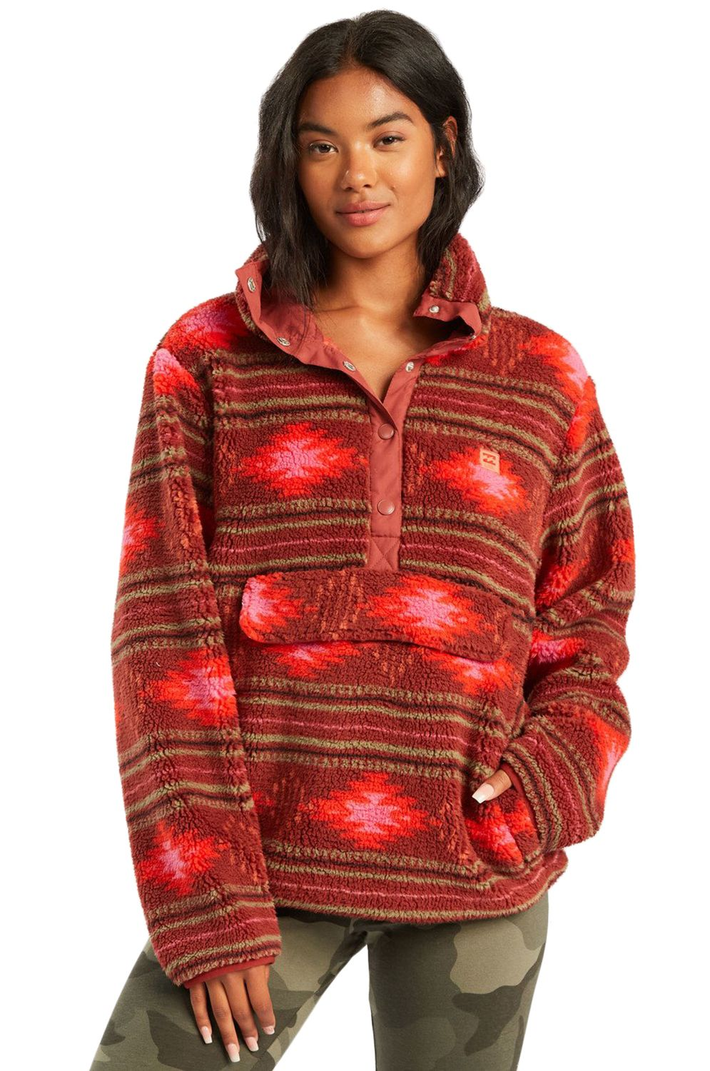 Billabong Sweat Warmer SWITCHBACK PULLOVER ADVENTURE DIVISION Chestnut