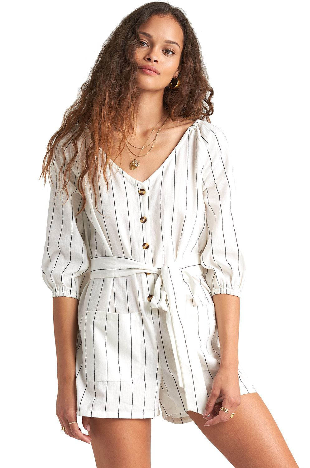 Billabong Jumpsuit WORK PLAY BEACH BAZAAR Salt Crystal