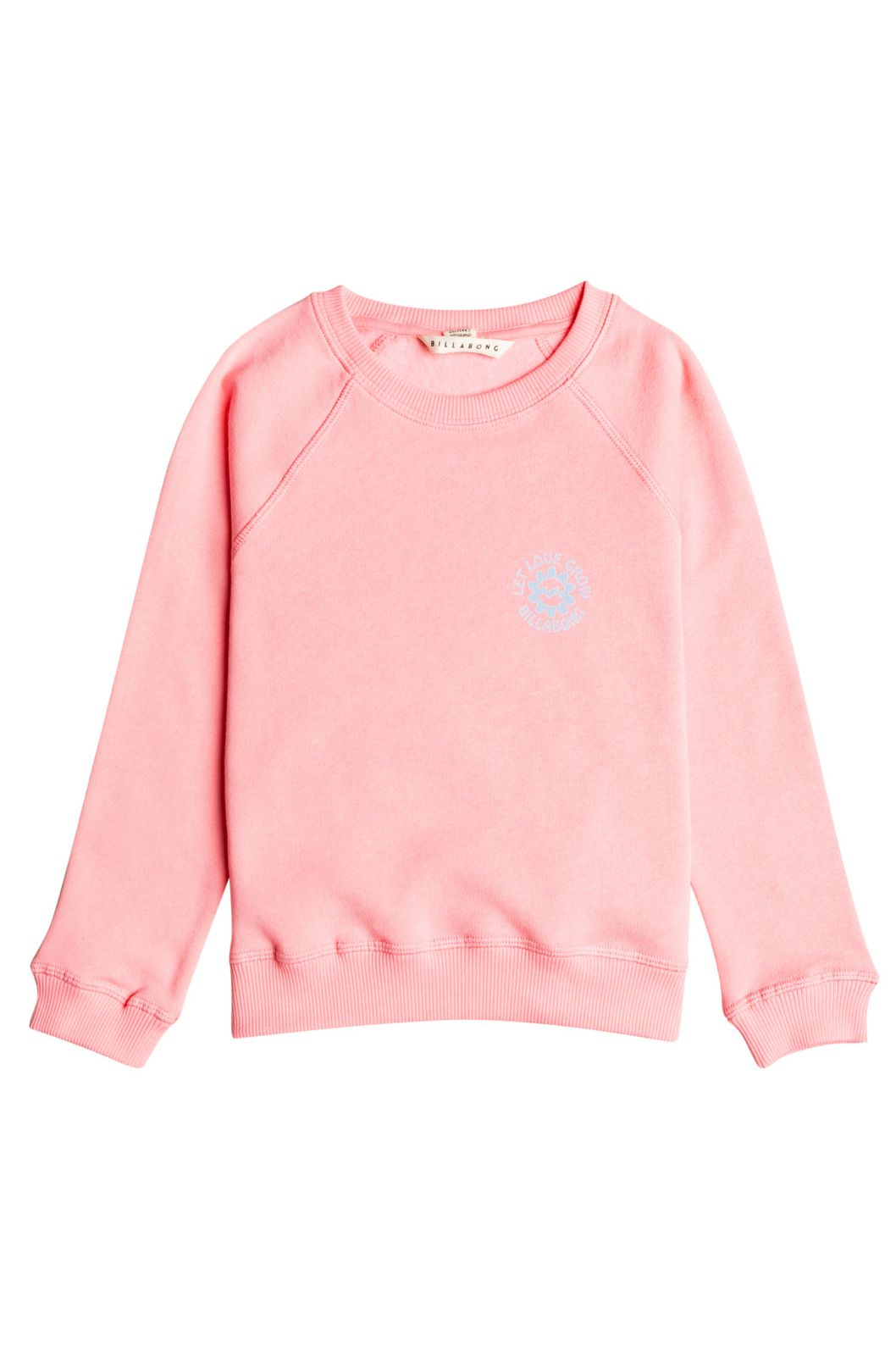 Billabong Crew Sweat WITH MY CREW Coral Pink