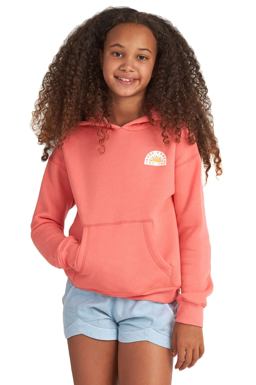 Billabong Sweat Zip Hood BRIGHT LIGHT Sunkissed Coral