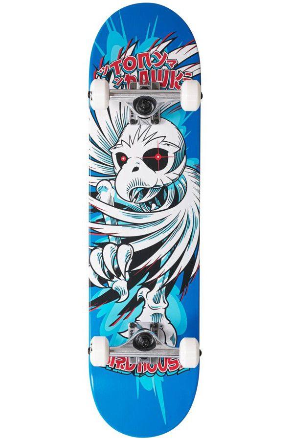 "Birdhouse Skate 7.75"" HAWK SPIRAL Blue"