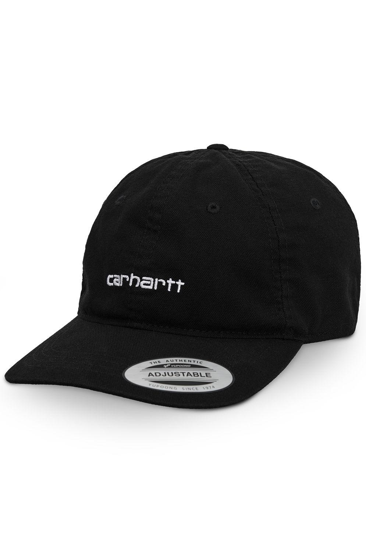 Bone Carhartt WIP CANVAS COACH CAP Black/White