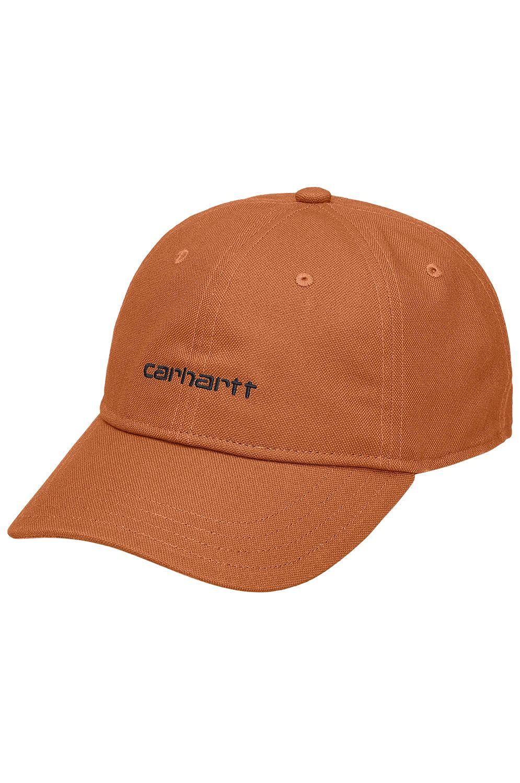 Bone Carhartt WIP CANVAS SCRIPT CAP Rum/Black