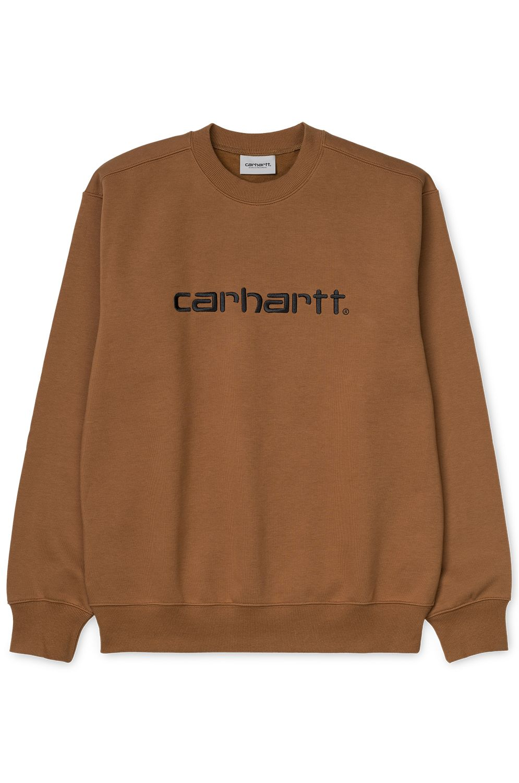 Sweat Basica Carhartt WIP CARHARTT SWEATSHIRT Hamilton Brown/Black