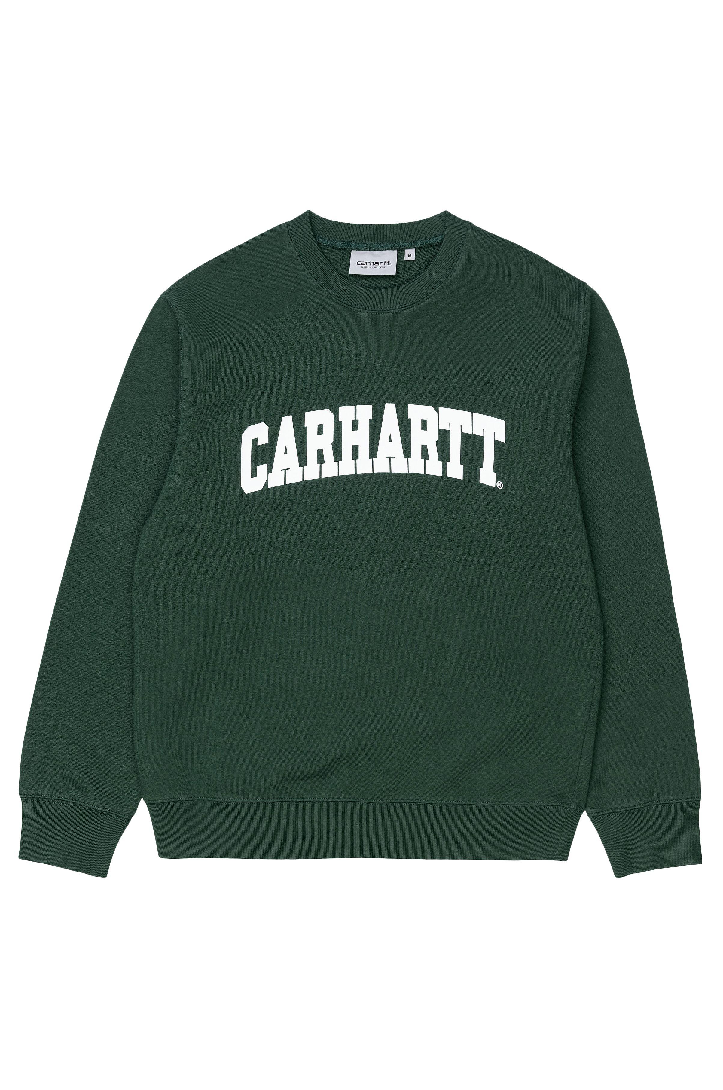Sweat Basica Carhartt WIP UNIVERSITY SWEATSHIRT Treehouse/White