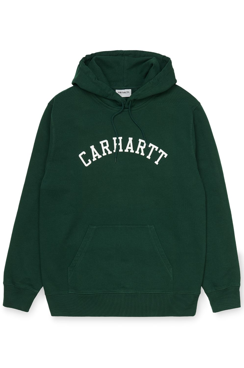 Sweat Capuz Carhartt WIP HOODED UNIVERSITY SWEATSHIRT Bottle Green/White