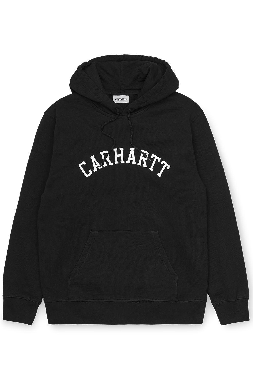 Sweat Capuz Carhartt WIP HOODED UNIVERSITY SWEATSHIRT Black/White