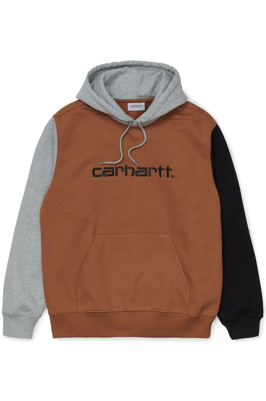 Carhartt WIP Sweat Hood HOODED CARHARTT TRICOL SWEATSHIRT Hamilton Brown