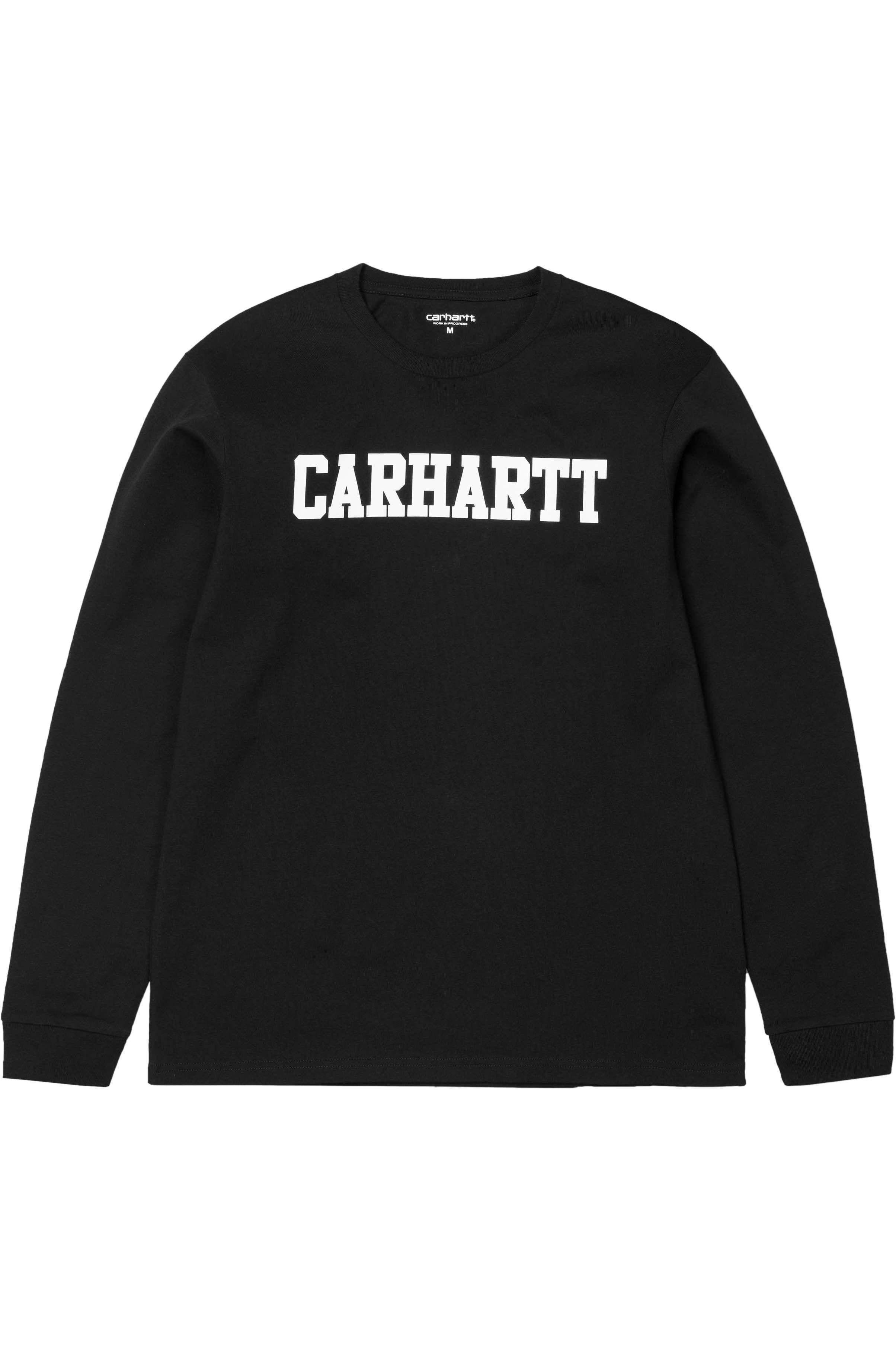 L-Sleeve Carhartt WIP COLLEGE Black/White