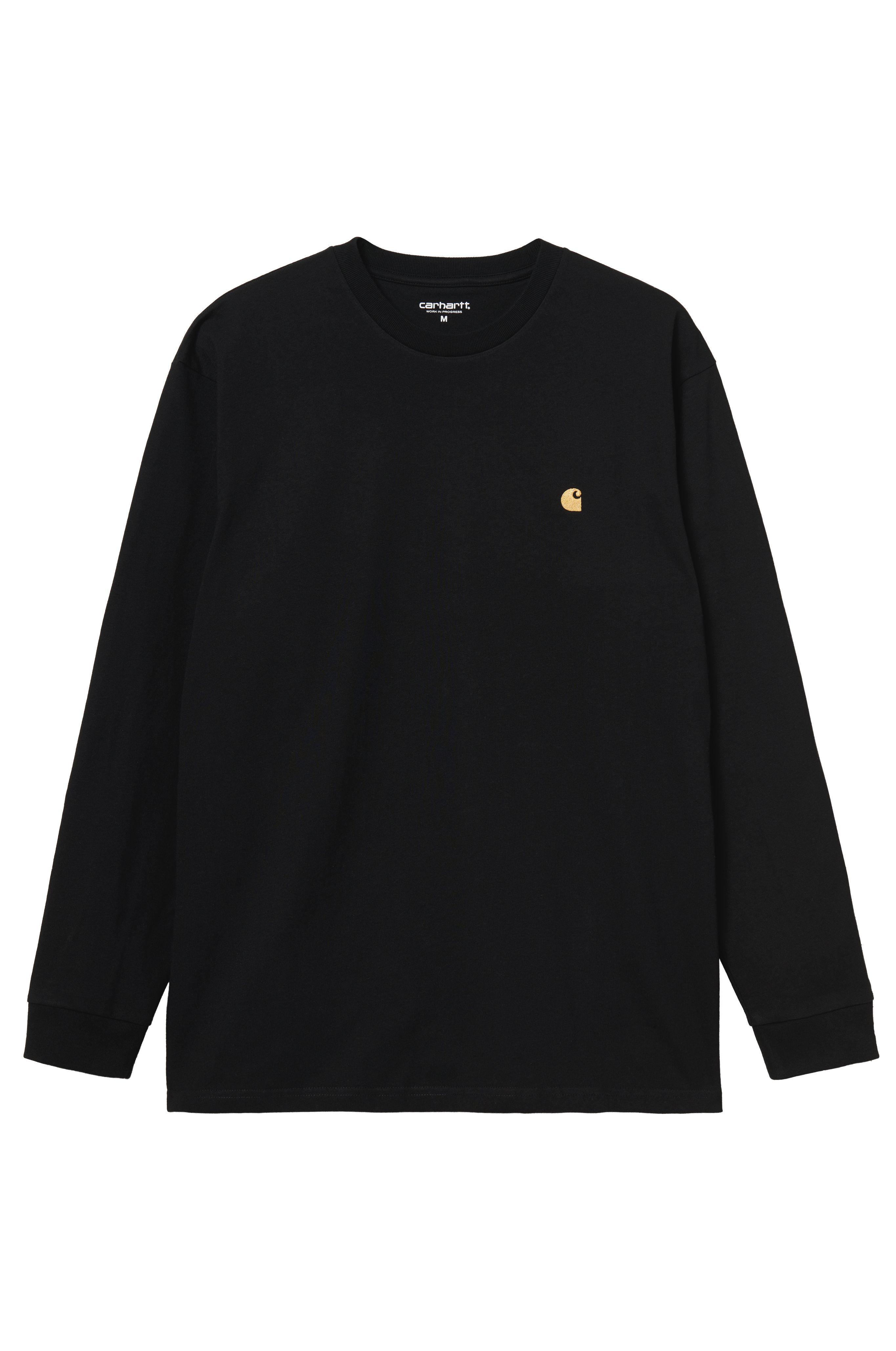 Carhartt WIP L-Sleeve CHASE Black/Gold