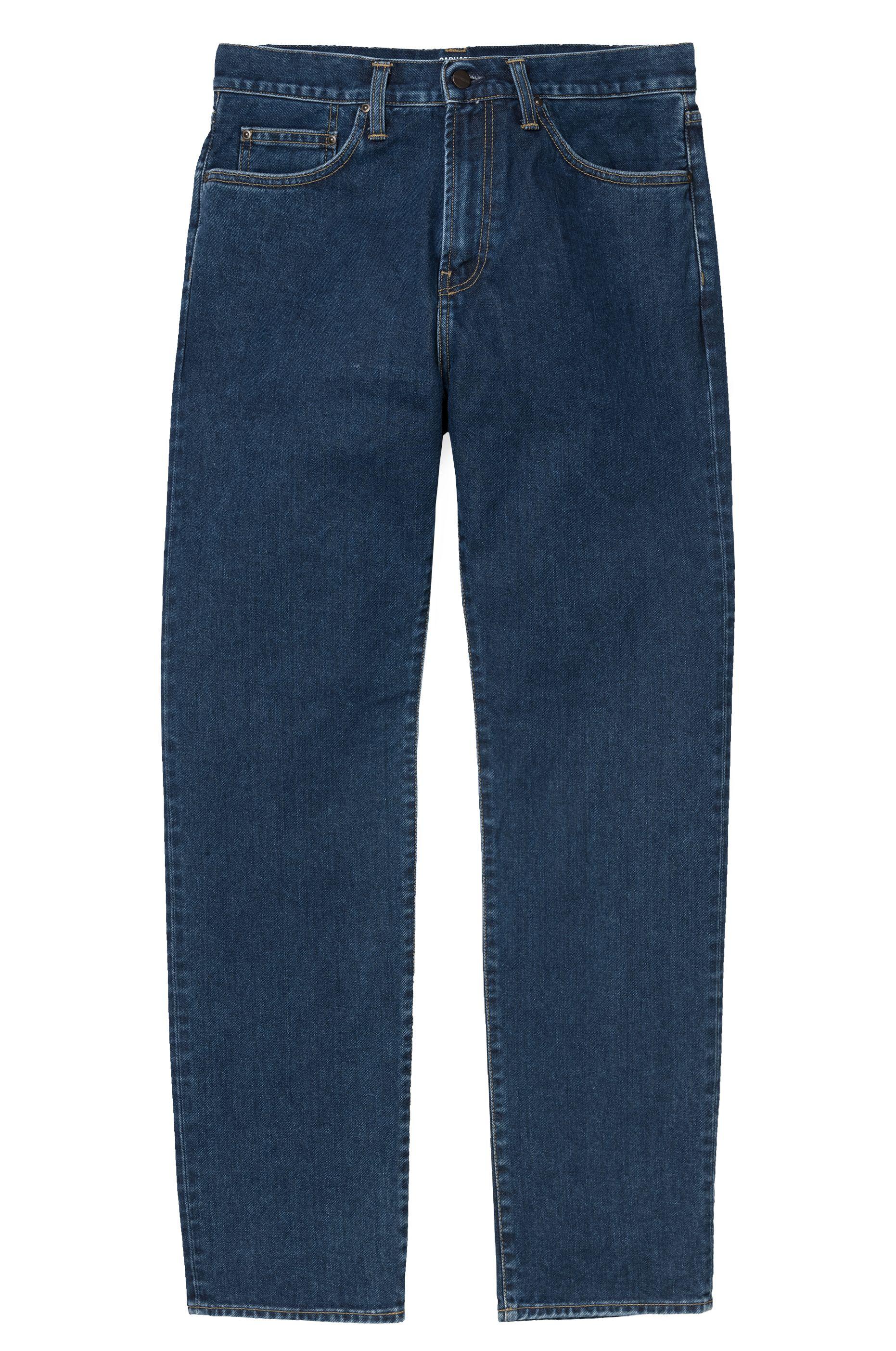 Carhartt WIP Pant Jeans PONTIAC Blue Stone Washed