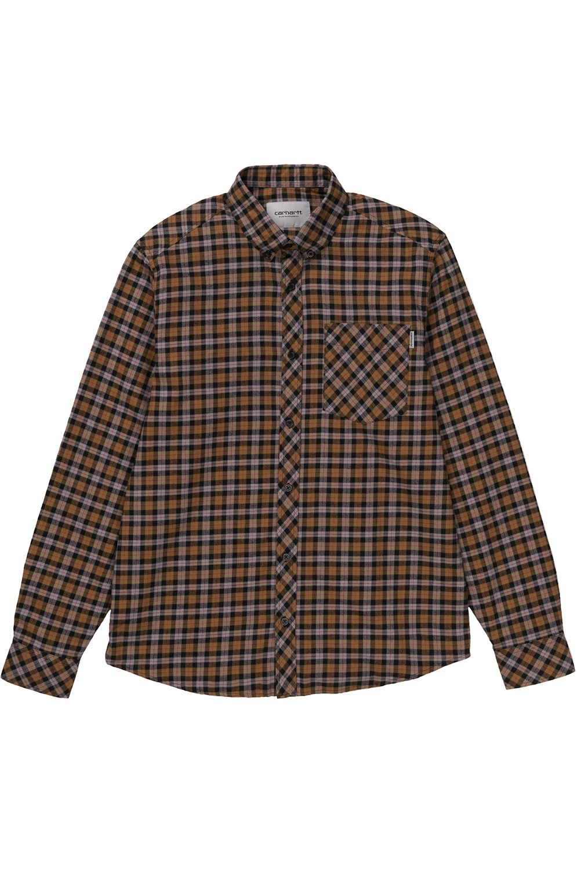 Carhartt WIP Shirt L/S LANARK Lanark Check/Hamilton Brown