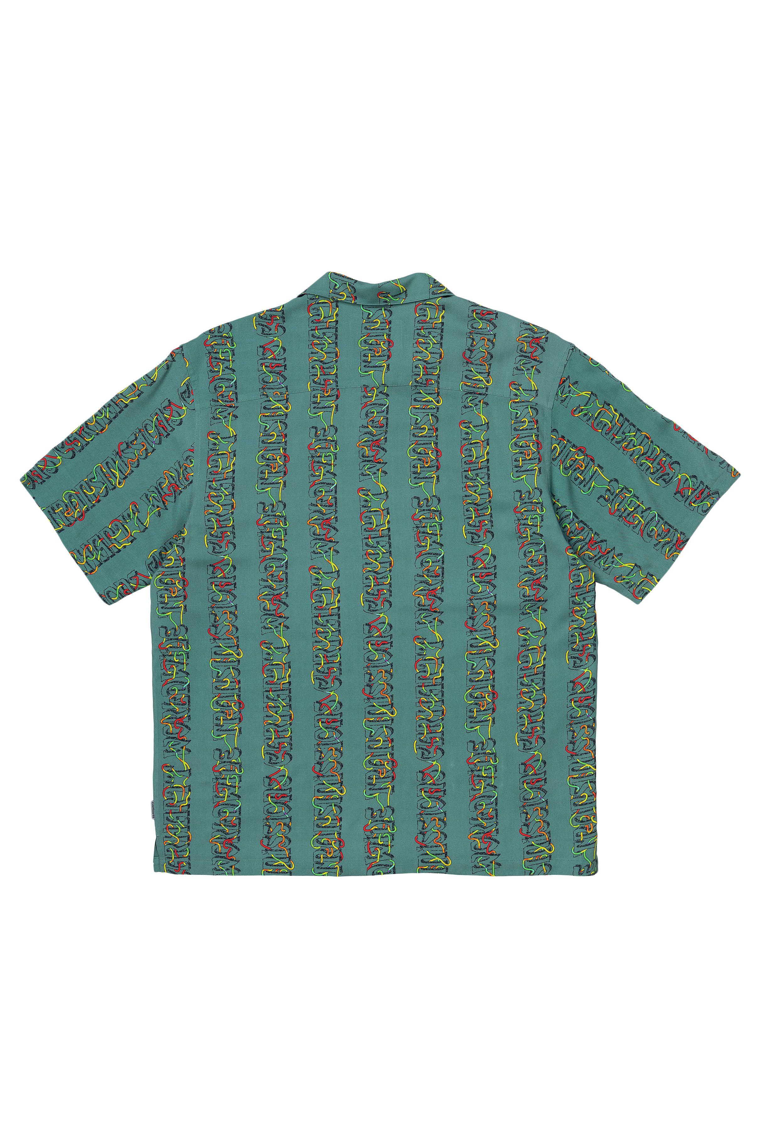 Camisa Carhartt WIP S/S TRANSMISSION SHIRT Transmission Print, Hydro