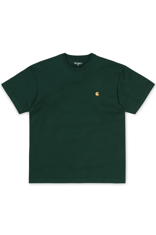 Carhartt WIP T-Shirt S/S CHASE T-SHIRT Bottle Green/Gold