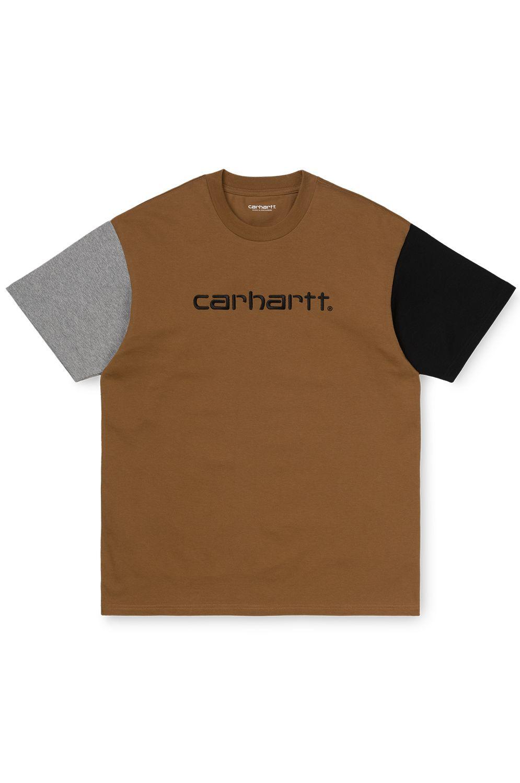 T-Shirt Carhartt WIP S/S CARHARTT TRICOL T-SHIRT Hamilton Brown