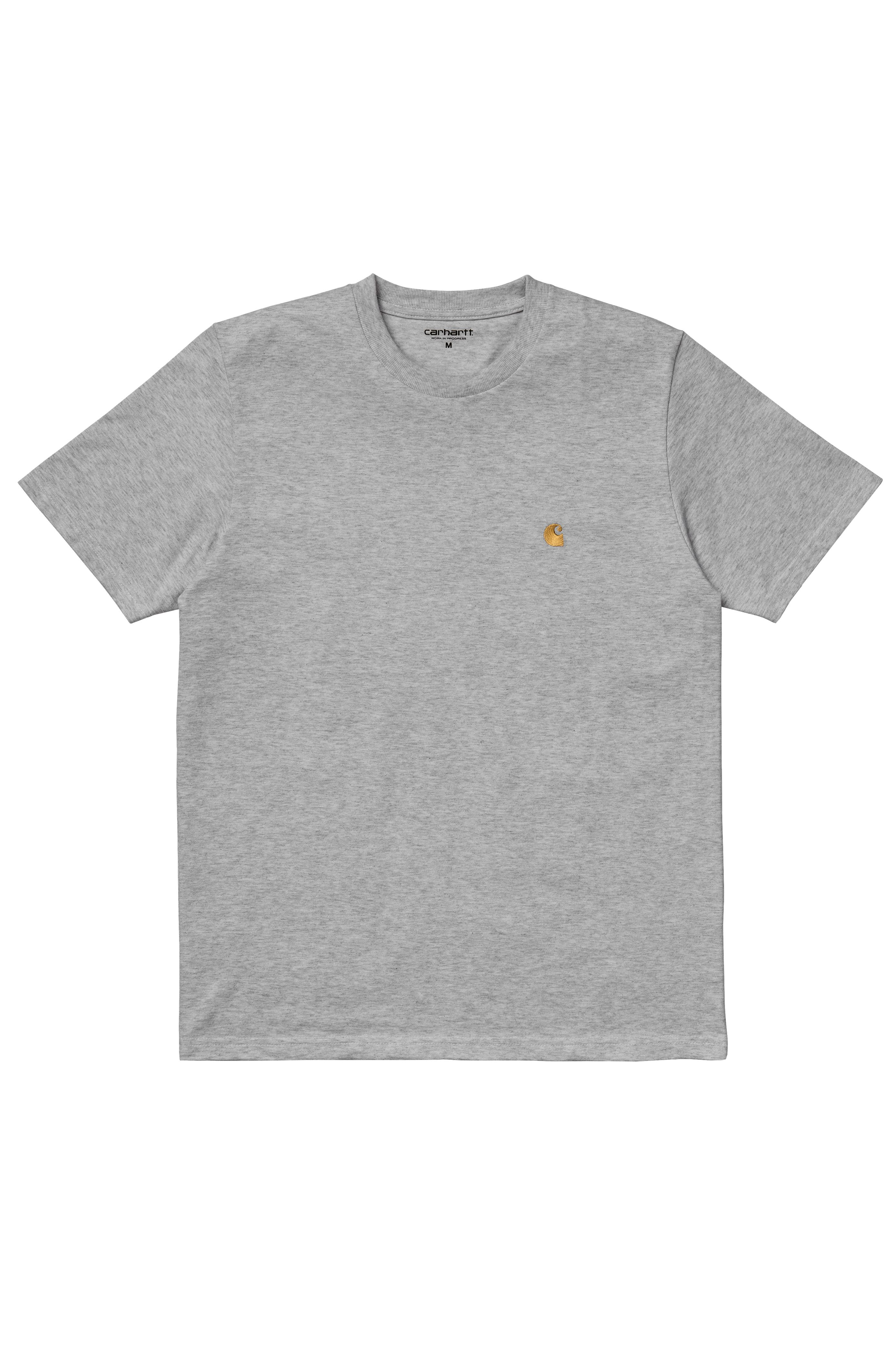 T-Shirt Carhartt WIP S/S CHASE T-SHIRT Grey Heather/Gold