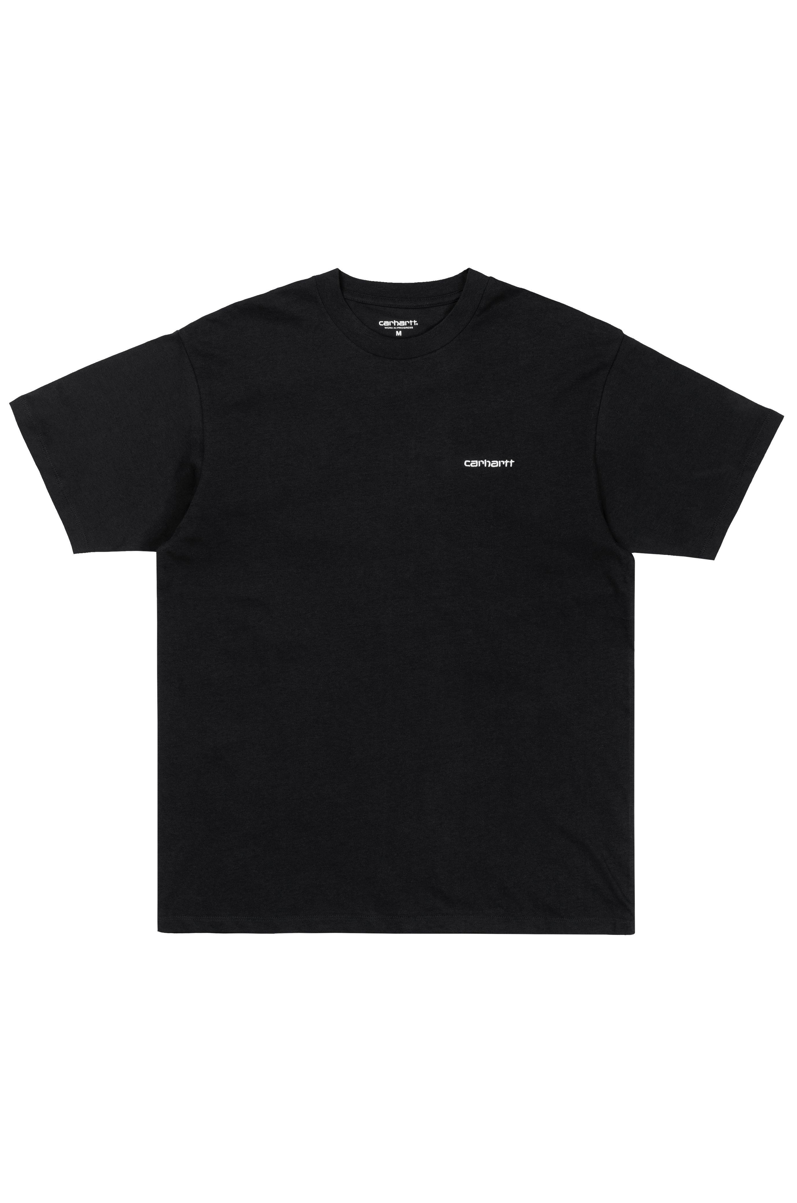 Carhartt WIP T-Shirt SCRIPT EMBROIDERY Black/White