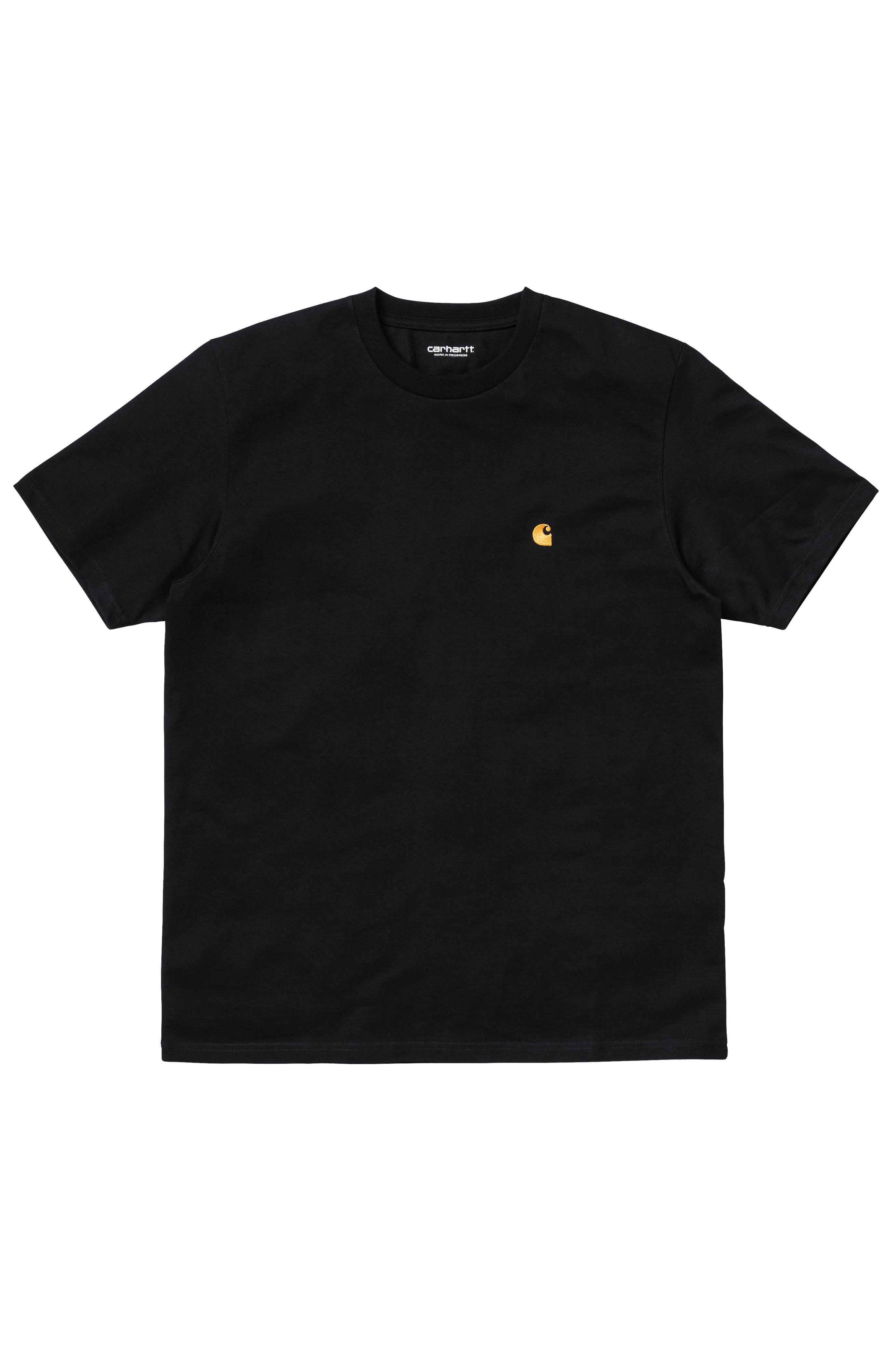 Carhartt WIP T-Shirt CHASE Black/Gold