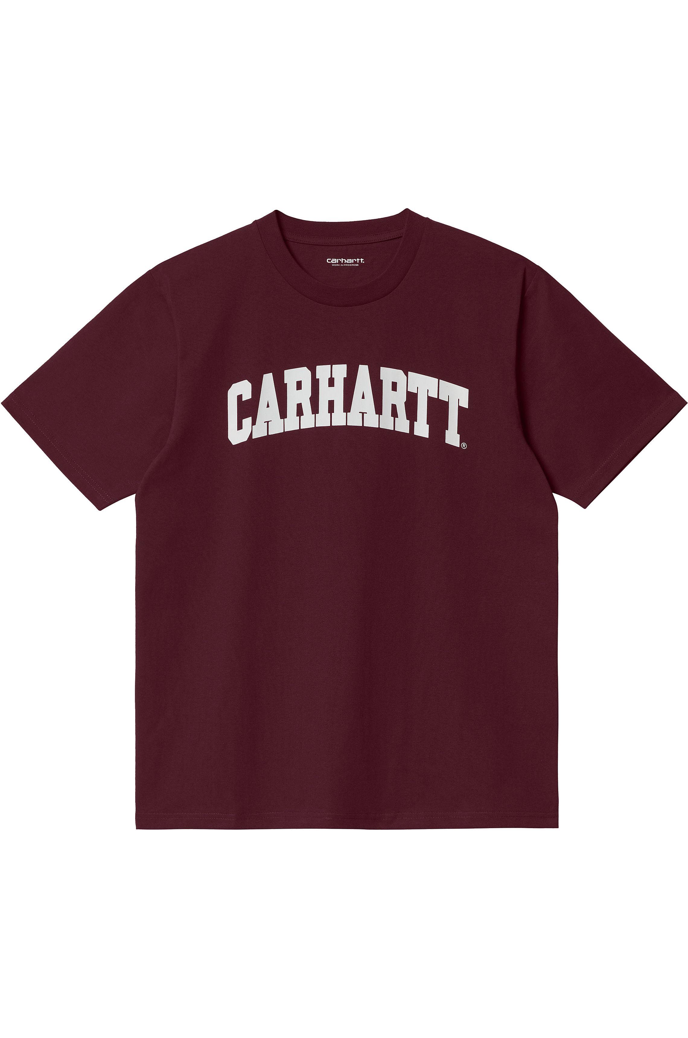 Carhartt WIP T-Shirt UNIVERSITY Wine/White