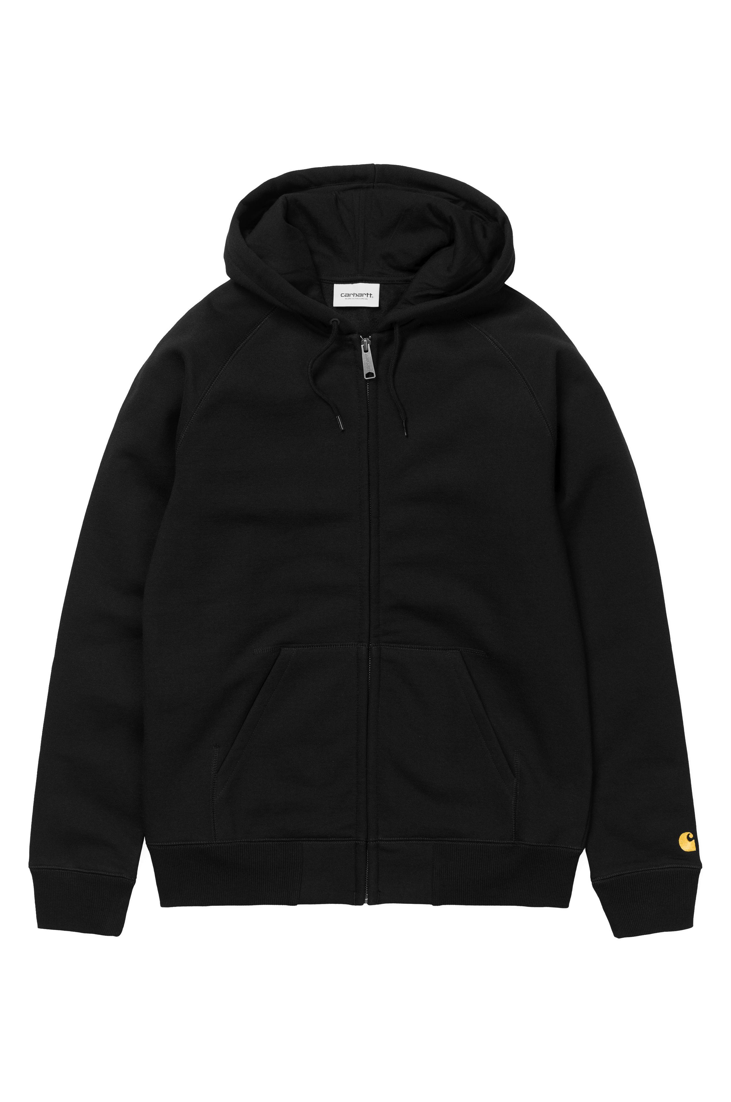 Carhartt WIP Sweat Zip Hood CHASE Black/Gold