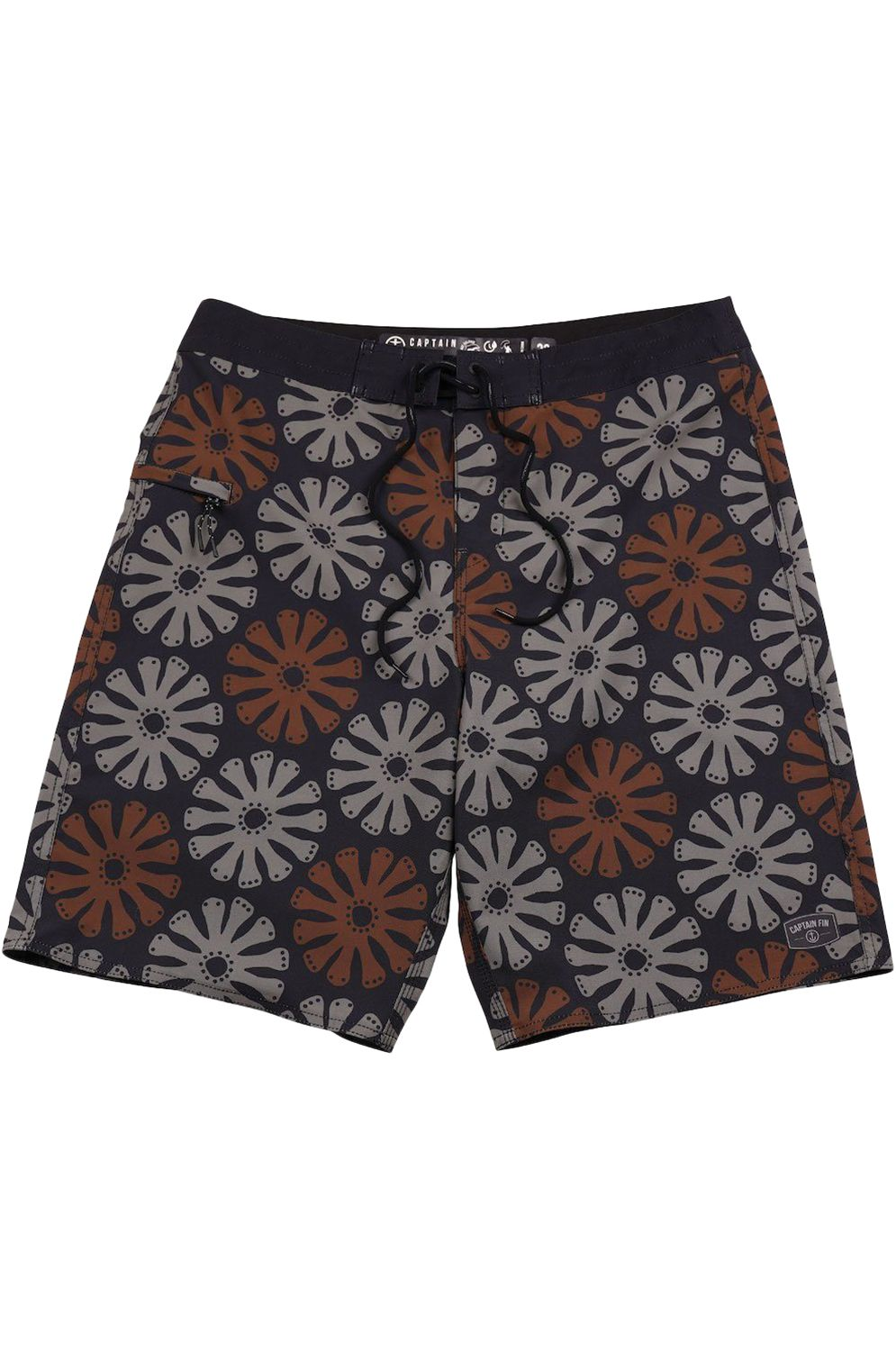 Captain Fin Boardshorts TRANSISTOR CHOICES 21in Faded Black