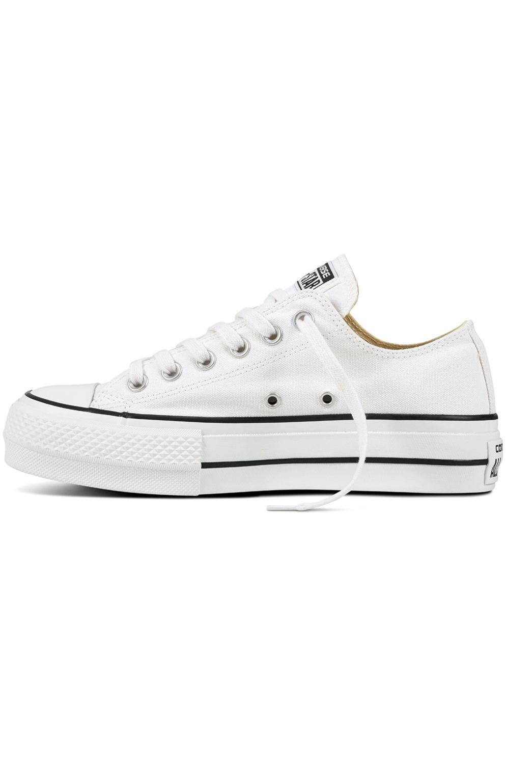 Tenis Converse CHUCK TAYLOR ALL STAR LIFT CLEAN OX White/Black/White