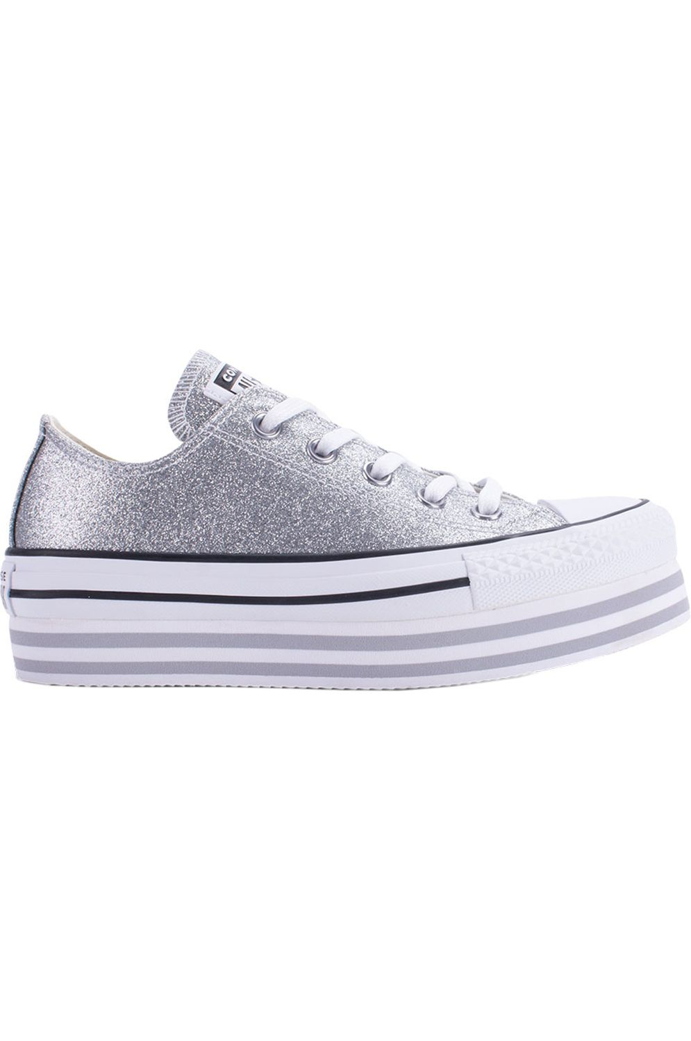 Tenis Converse CHUCK TAYLOR ALL STAR PLATFORM LAYER OX Silver/Wolf Grey/White