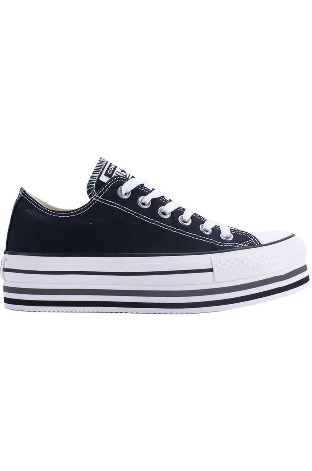 Tenis Converse CHUCK TAYLOR ALL STAR PLATFORM LAYER OX Black/White/Thunder