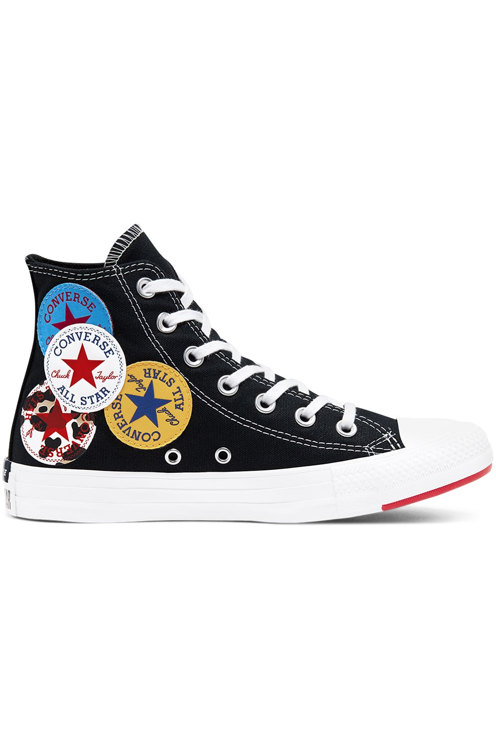 Tenis Converse CHUCK TAYLOR ALL STAR HI Black/University Red/Amarillo