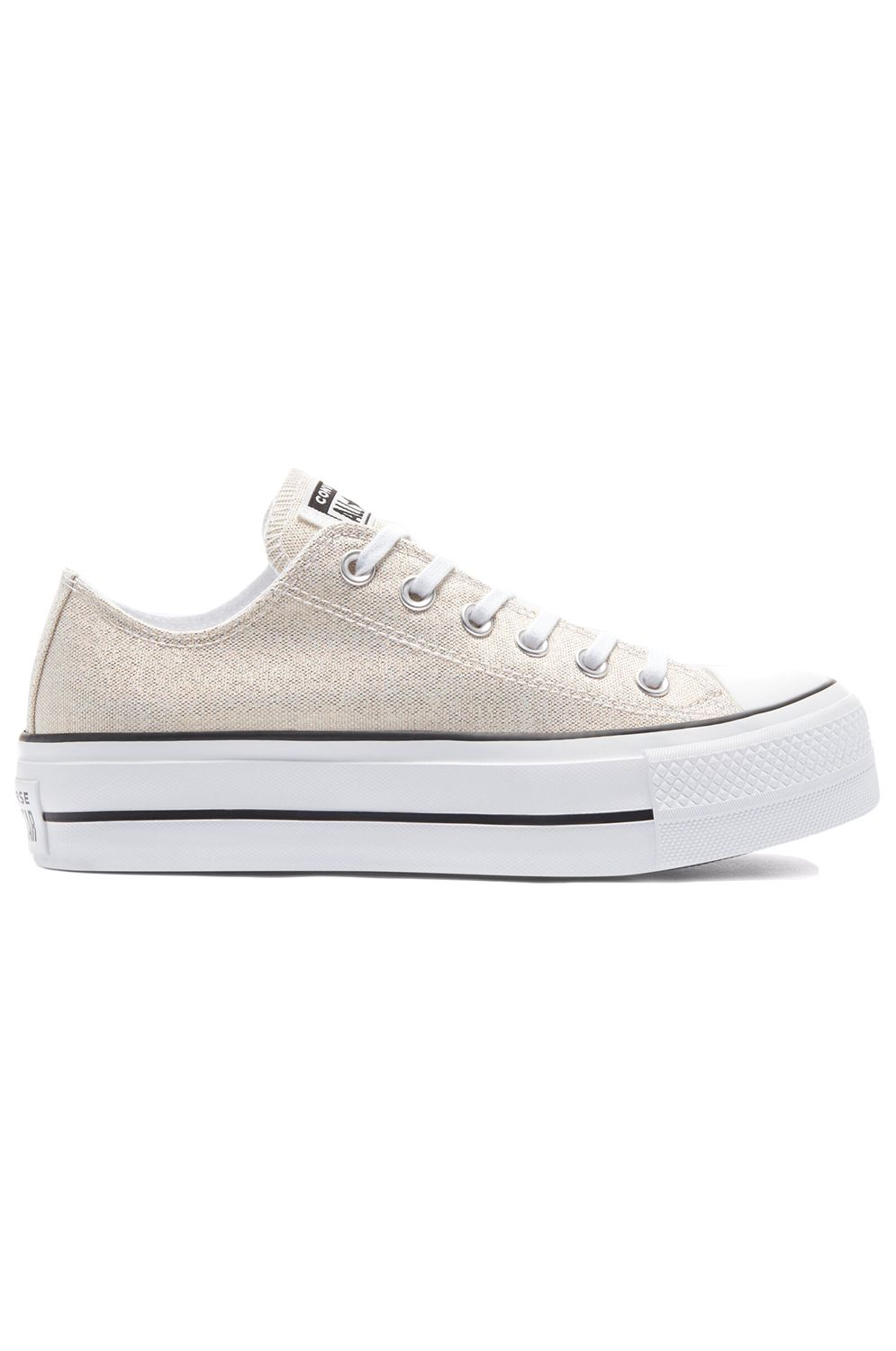 Tenis Converse CHUCK TAYLOR ALL STAR LIFT OX Silver/Black/White