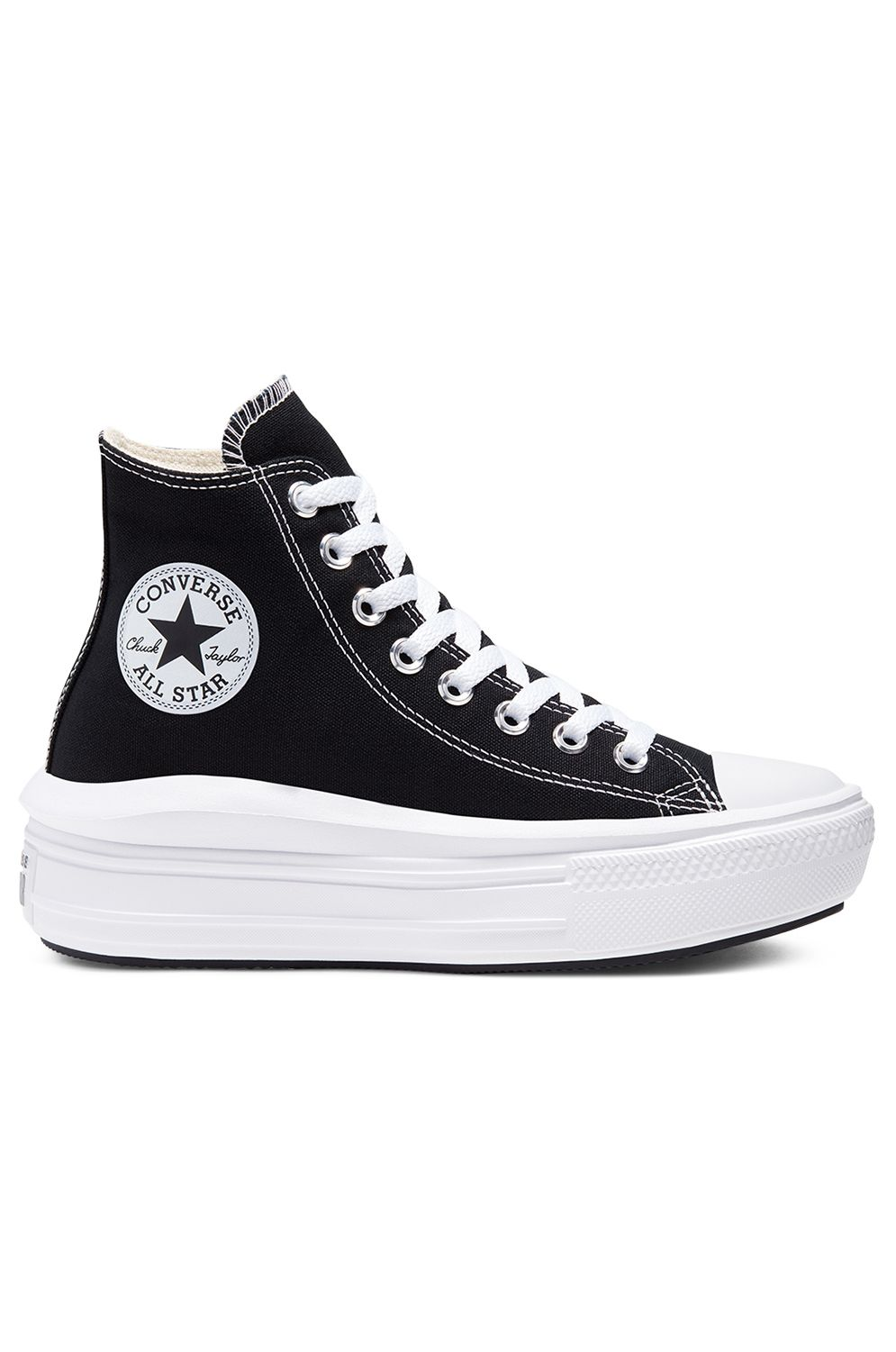 Tenis Converse CHUCK TAYLOR ALL STAR MOVE HI Black/Natural Ivory/White