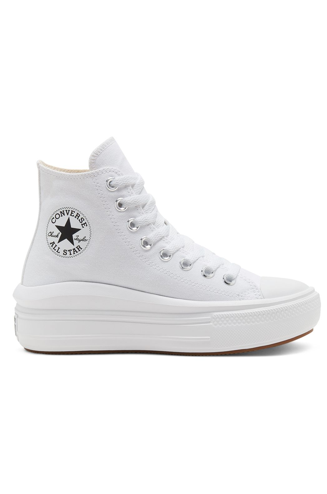 Converse Shoes CHUCK TAYLOR ALL STAR MOVE HI White/Natural Ivory/Black
