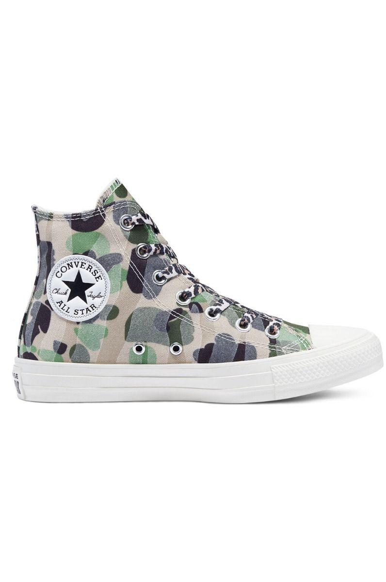 Converse Shoes CHUCK TAYLOR ALL STAR HI Egret/Piquant Green/Driftwood