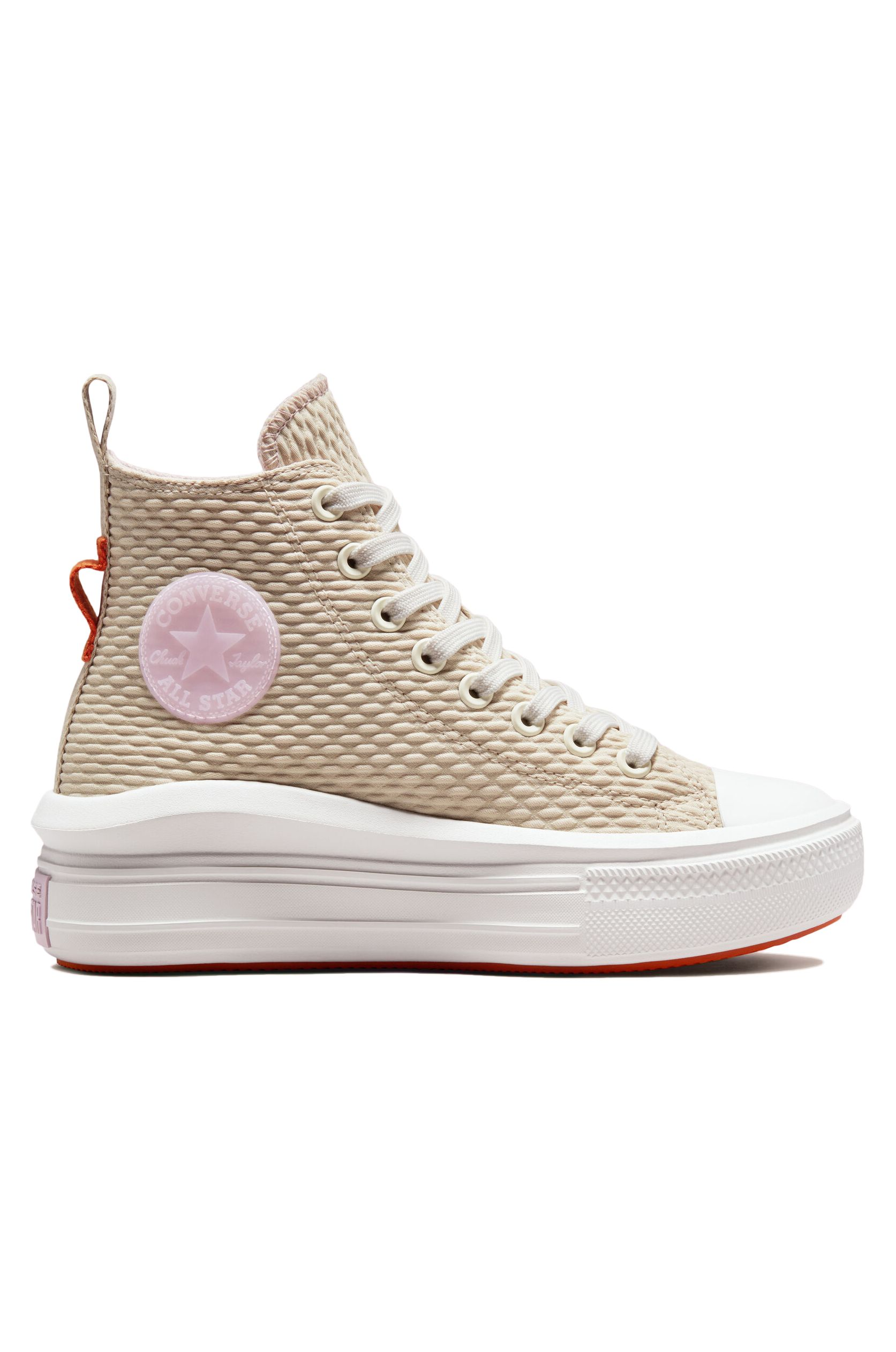Converse Shoes CHUCK TAYLOR ALL STAR MOVE HI String/Vintage White/Fire Pit
