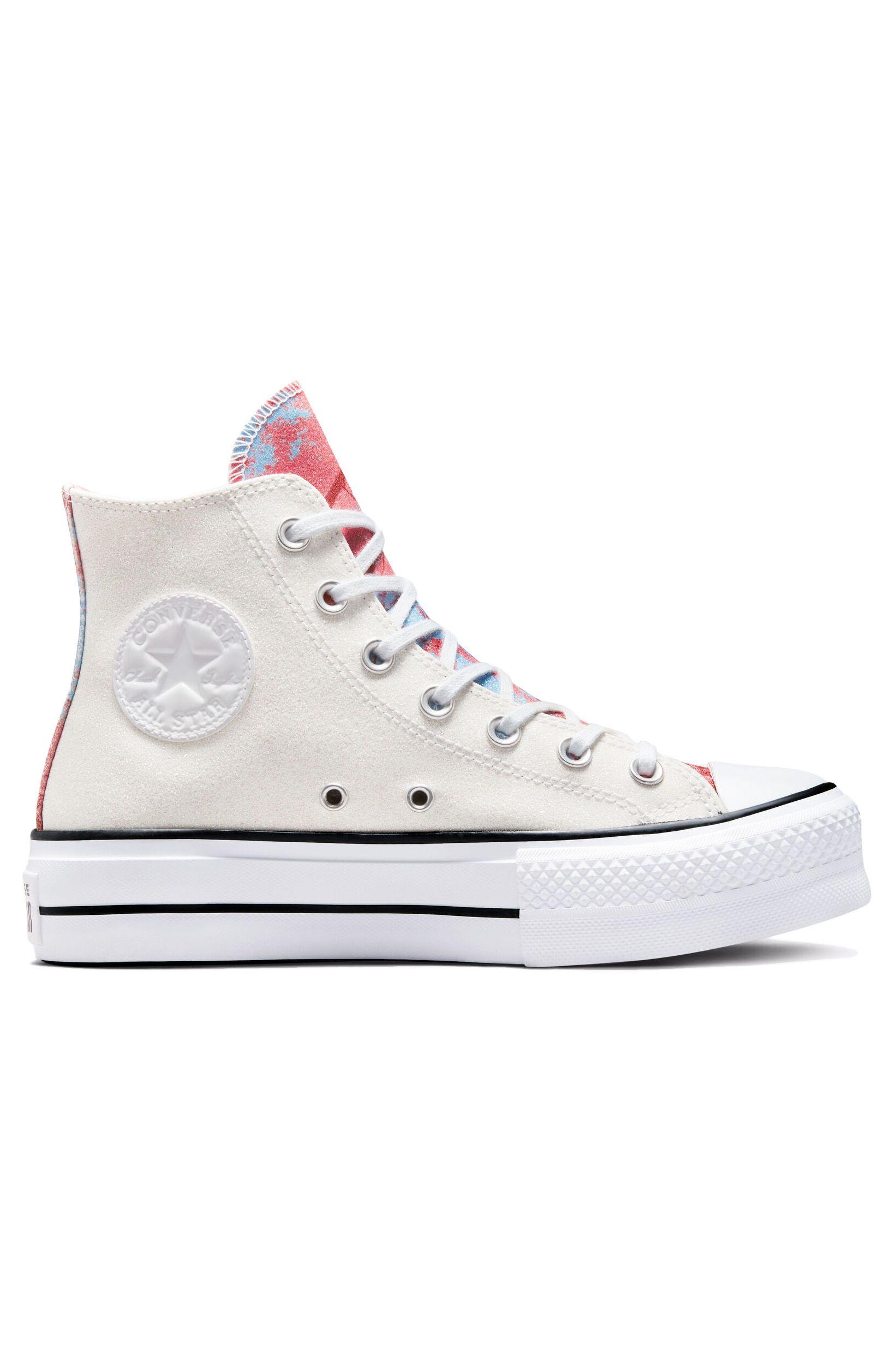 Converse Shoes CHUCK TAYLOR ALL STAR LIFT HI White/Pink Salt/Black