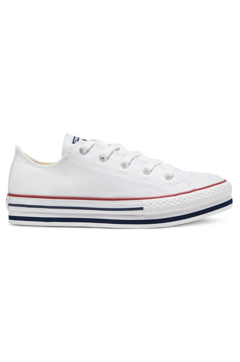 Converse Shoes CHUCK TAYLOR ALL STAR PLATFORM EVA OX White/Midnght Navy/Garnet