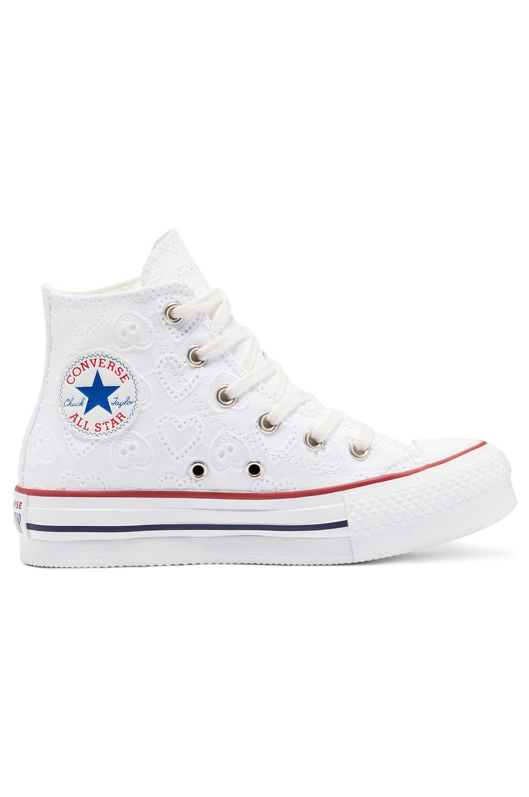 Tenis Converse CHUCK TAYLOR ALL STAR EVA LIFT HI White/Garnet/Midnight Navy