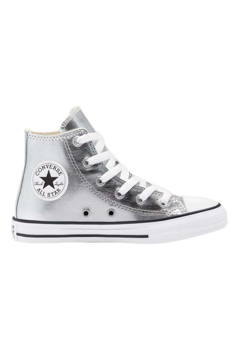 Tenis Converse CHUCK TAYLOR ALL STAR HI Metallic Granite/White/Black