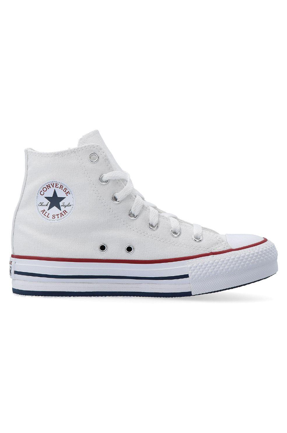Converse Shoes CHUCK TAYLOR ALL STAR EVA LIFT HI White/Garnet/Midnight Navy