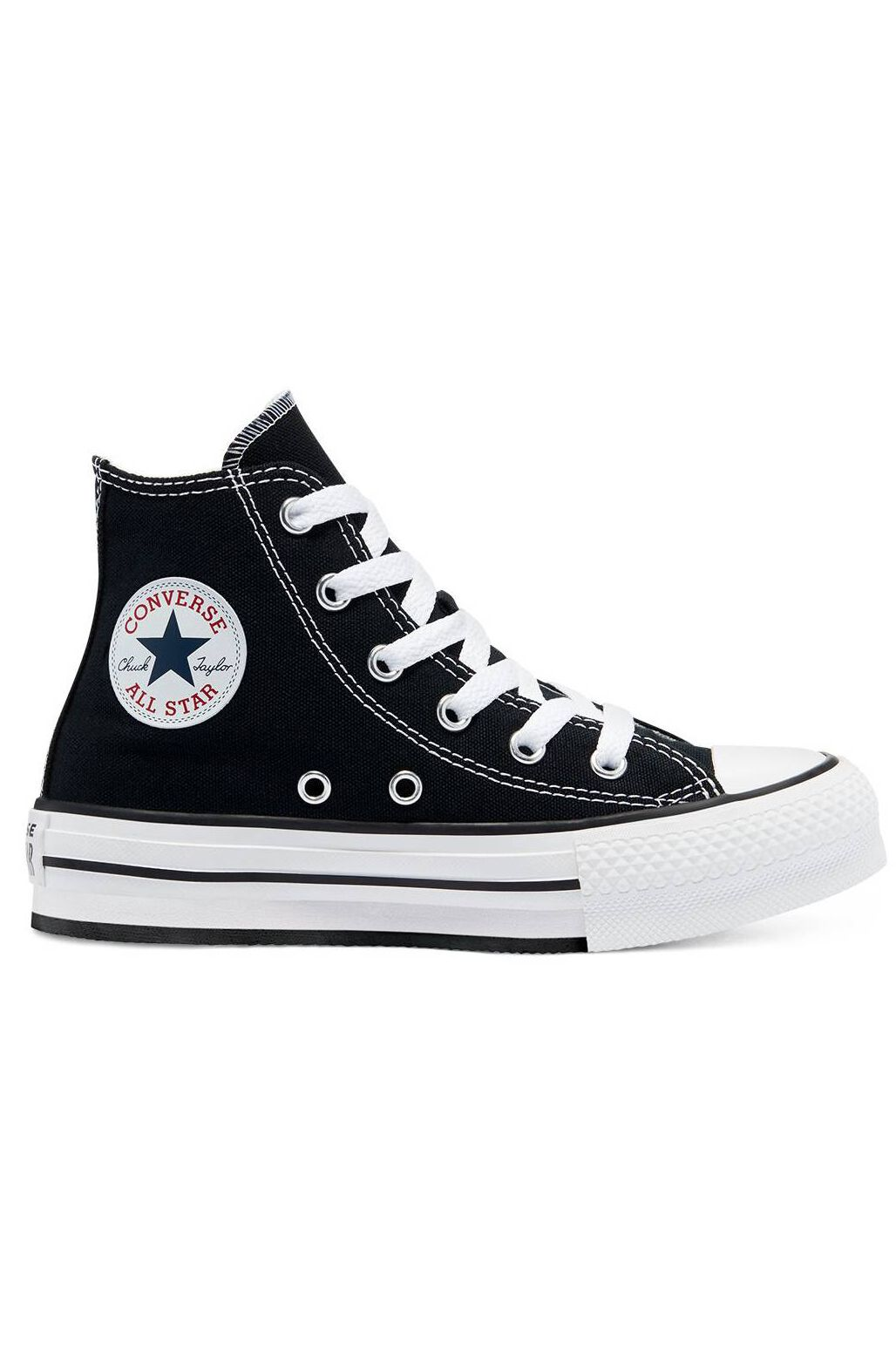 Converse Shoes CHUCK TAYLOR ALL STAR EVA LIFT HI Black/White/Black