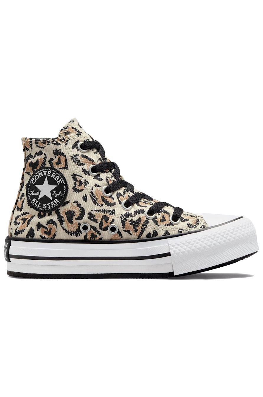 Converse Shoes CHUCK TAYLOR ALL STAR EVA LIFT HI Driftwood/Black/White