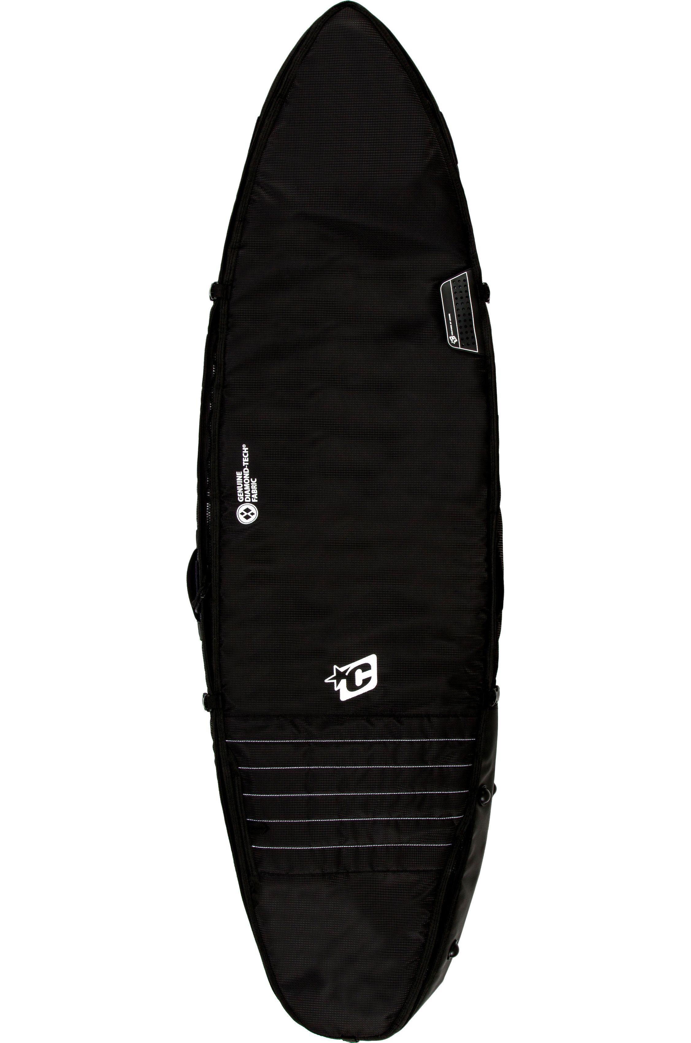 Capa Creatures 6ft3 SHORTBOARD TRIPLE Black White