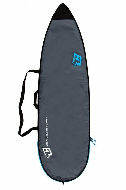 Creatures Boardbag 6'7 SHORTBOARD LITE Charcoal Cyan