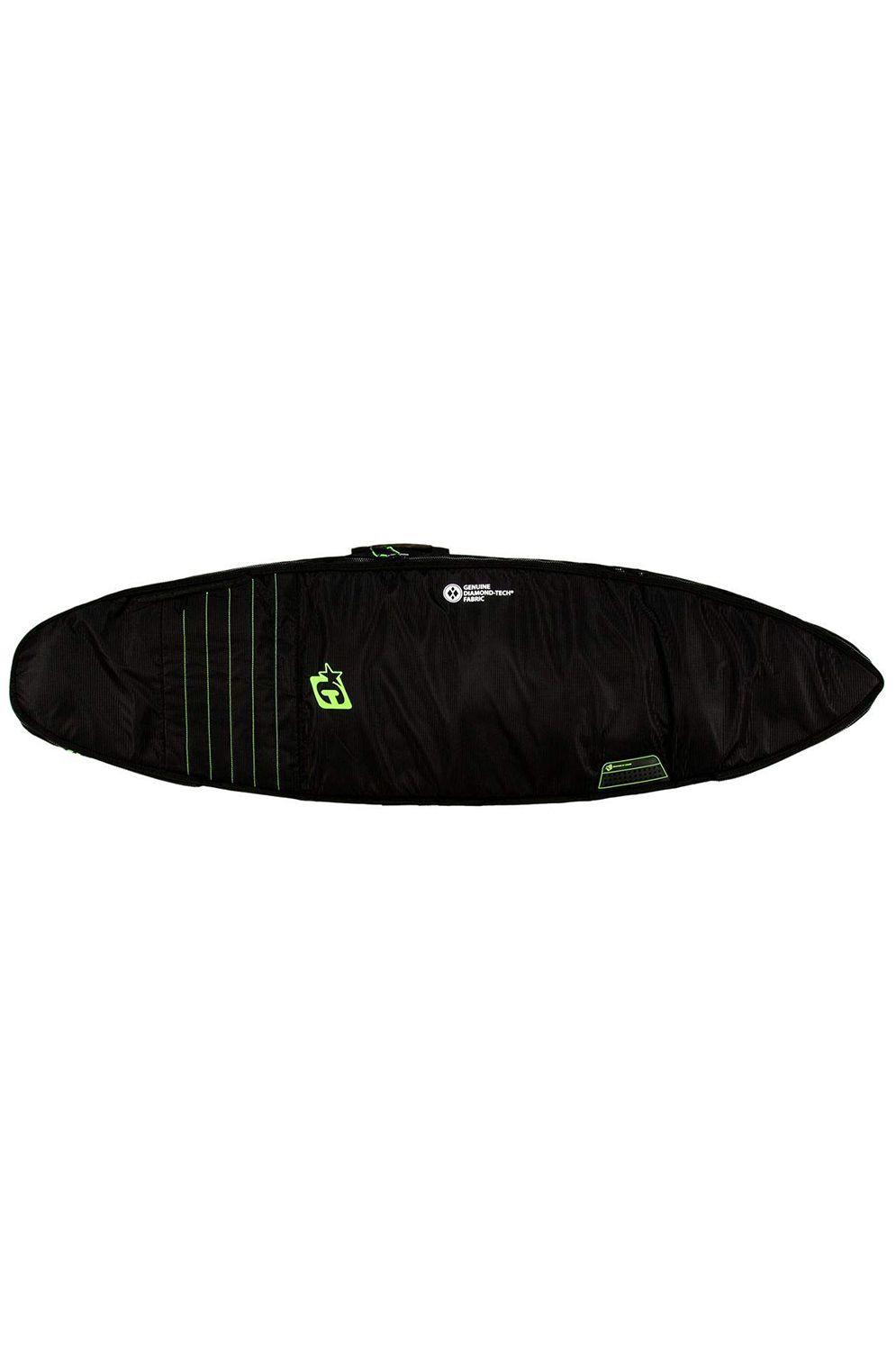Creatures Boardbag 7'1 SHORTBOARD DOUBLE Black Lime